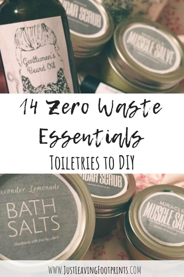 14 Zero Waste Essentials: Toiletries to DIY
