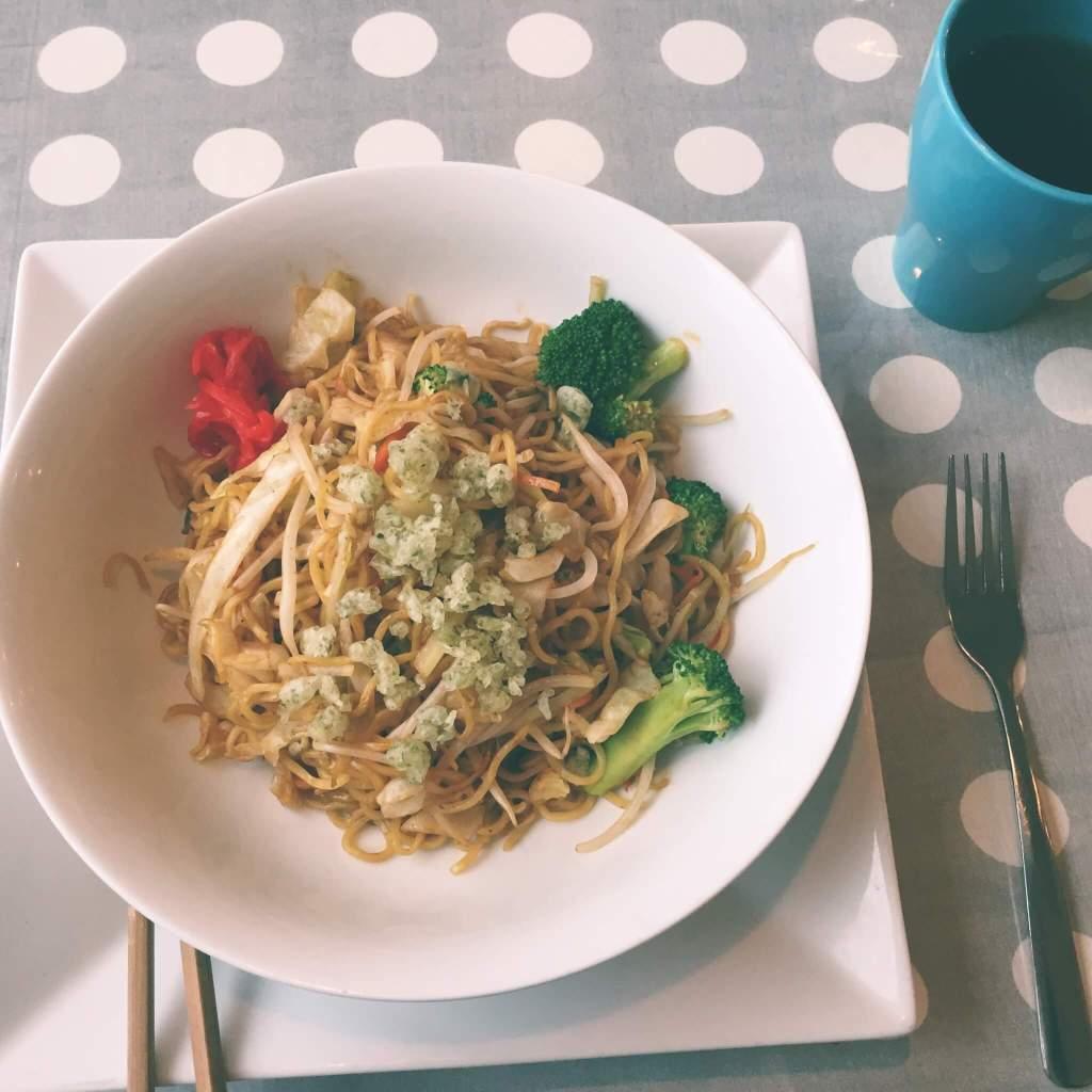 Veggie Yakisoba from Soy Fusion |The Best Vegetarian and Vegan Restaurants in Kelowna, BC