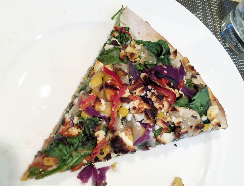 Colorful Veggie Pizza |The Best Vegetarian and Vegan Restaurants in Kelowna, BC