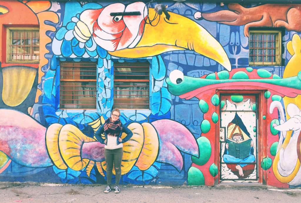 Urban Art in British Columbia: Crazy Colorful Mural