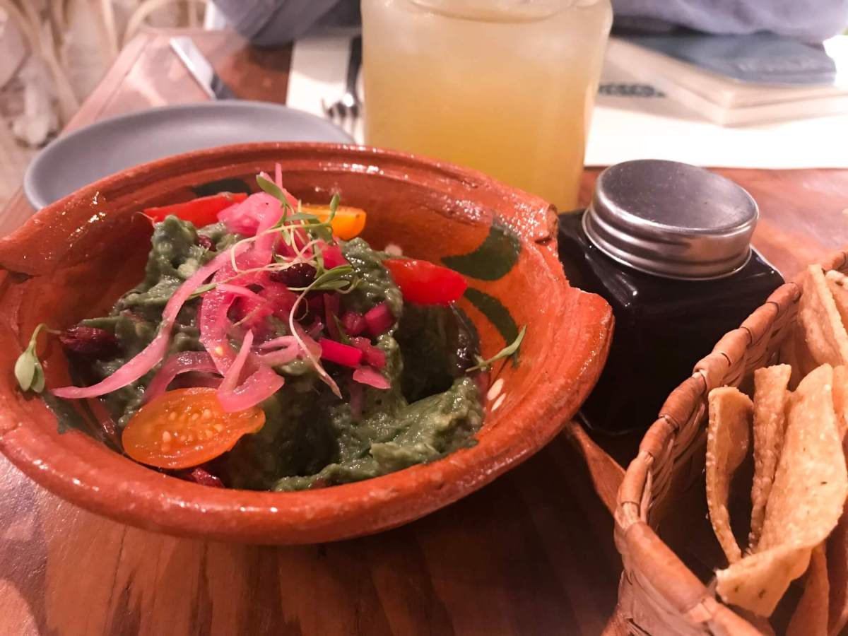 Guacamole at Forever Vegano | Vegan Restaurants in Mexico City