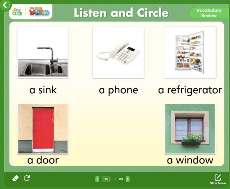 SayABC Sample Lesson Slide