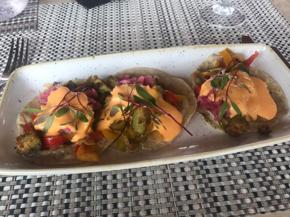 Spicy Vegan Tacos at El Santuario Resort | Hotels in Valle de Bravo