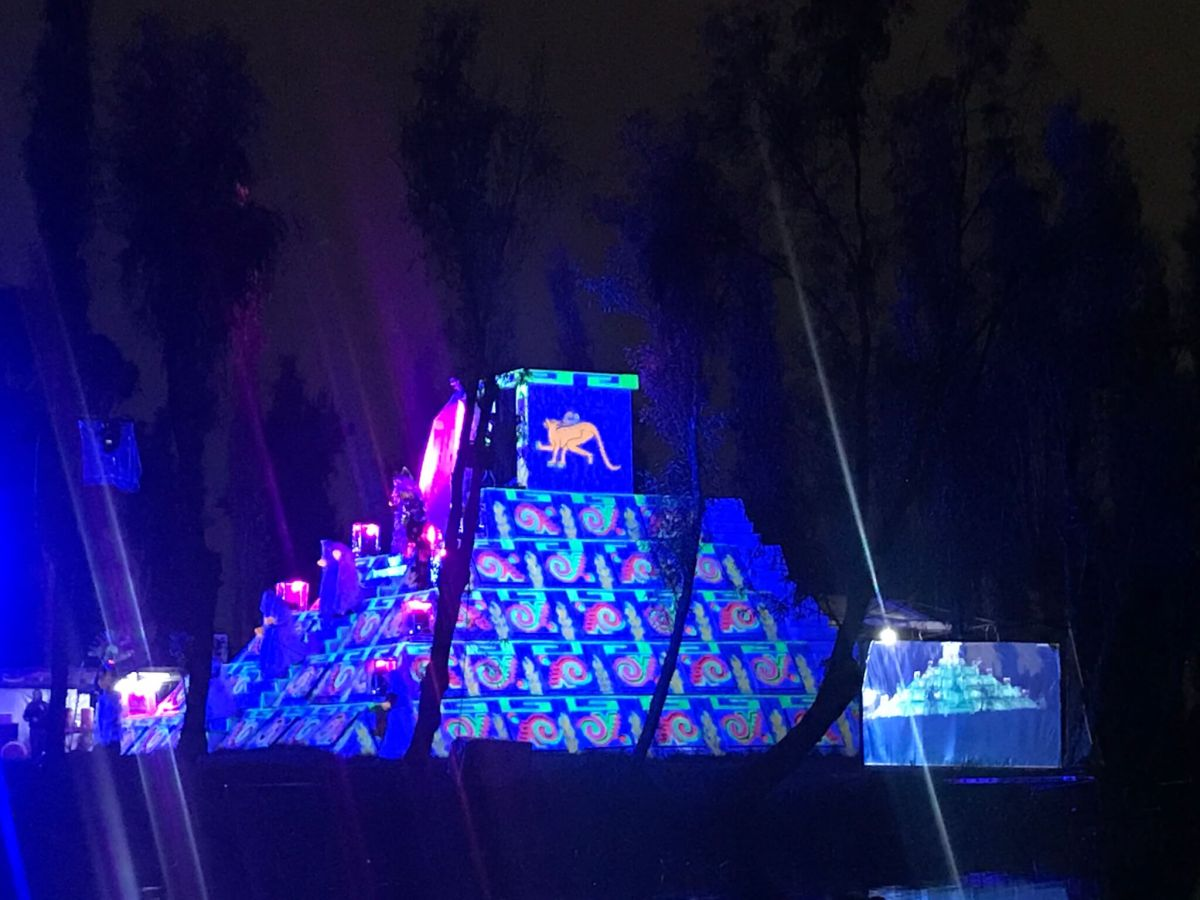 La Llorona Xochimilco | Glow in the dark Pyramid on a Chinampa
