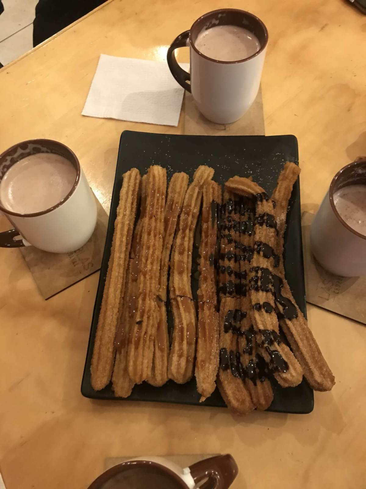 Churros at Churrería Artesenal Las Ramblas in Morelia