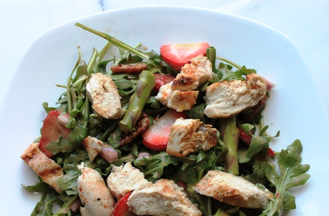 Chicken Salad with Strawberries & Asparagus