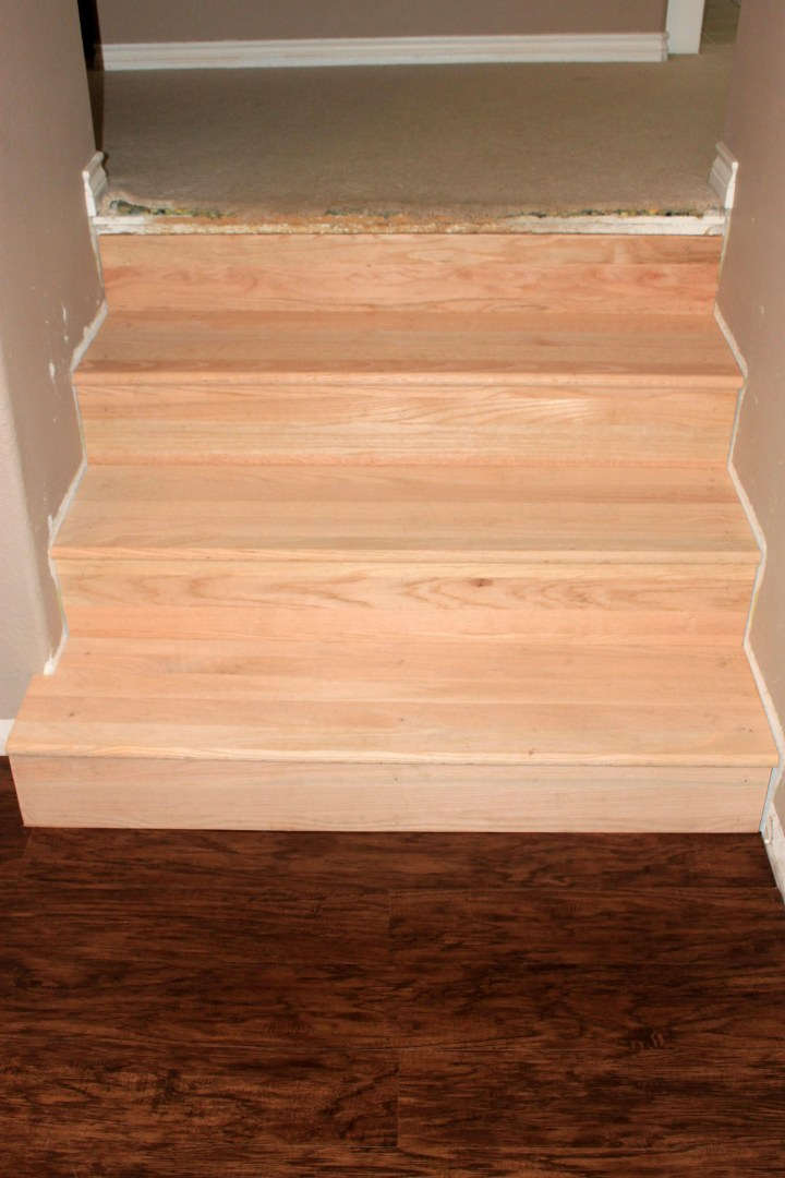 Converting carpeted stairs to hardwood