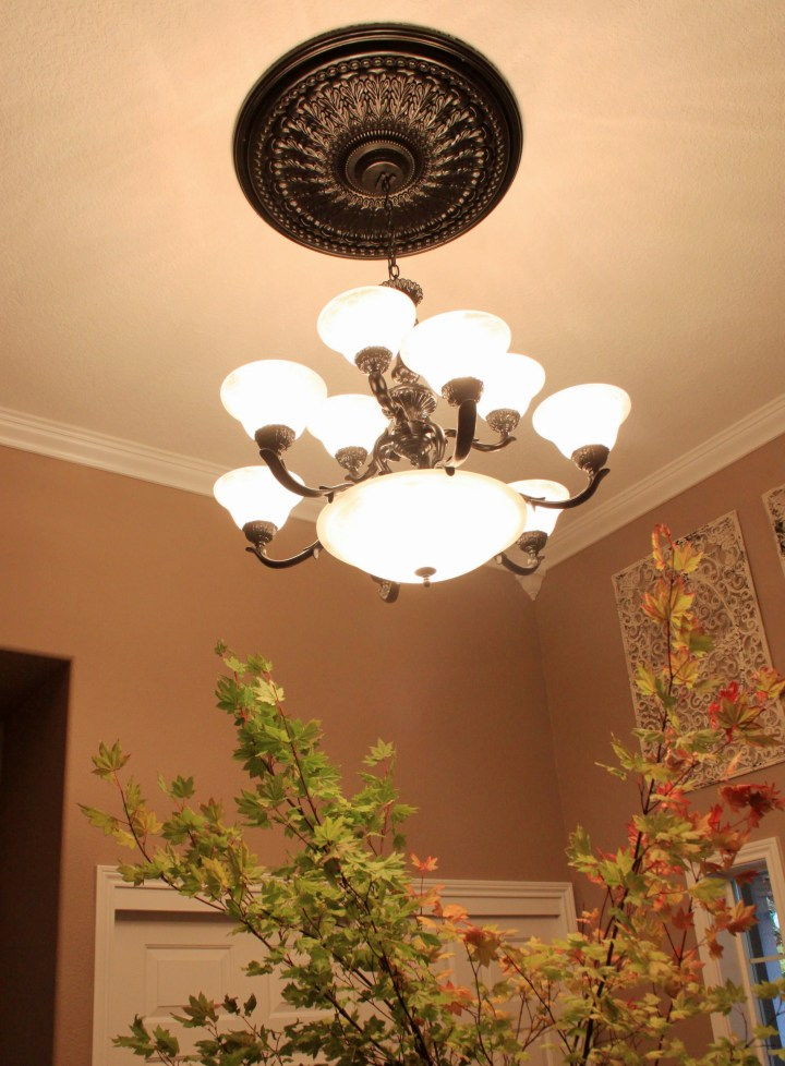 diy painted chandelier