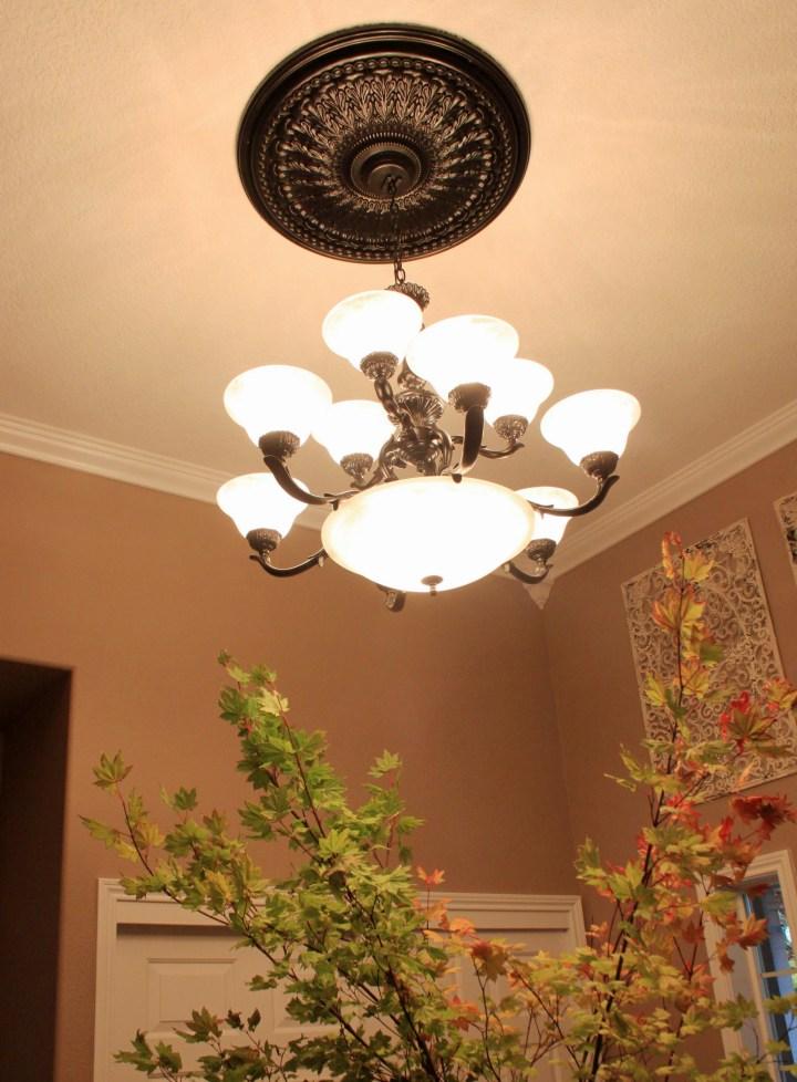 diy painted chandelier