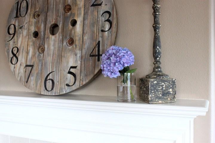 Wooden Spool Clock