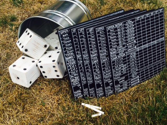 DIY Yard Yahtzee Scoreboard