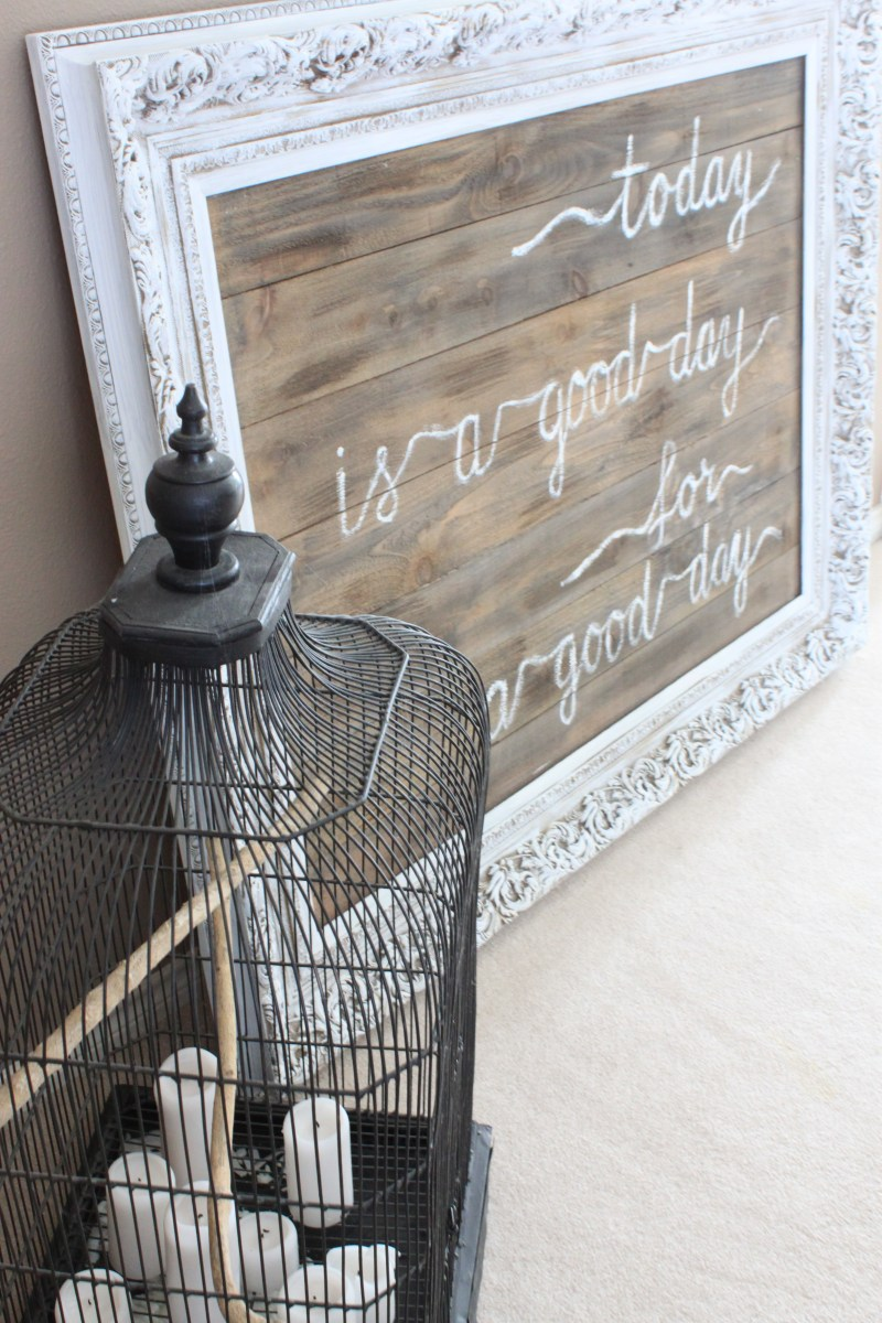 DIY Upcycled Frame
