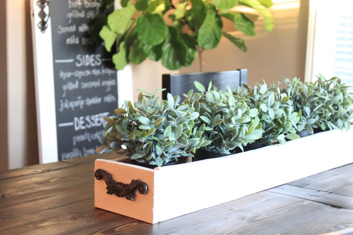 DIY planter centerpiece