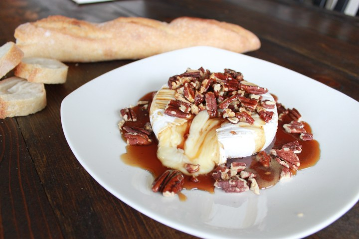 baked brie w/ maple & pecans