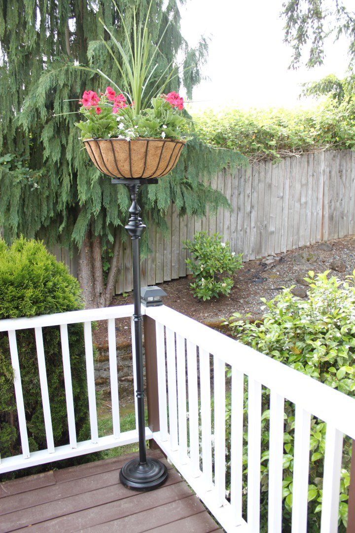 diy flower basket stand
