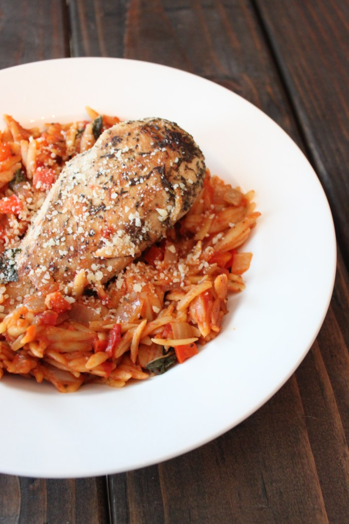Italian Chicken & Tomato Basil Orzo