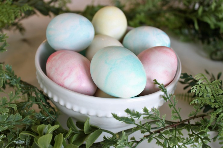 whip cream easter eggs