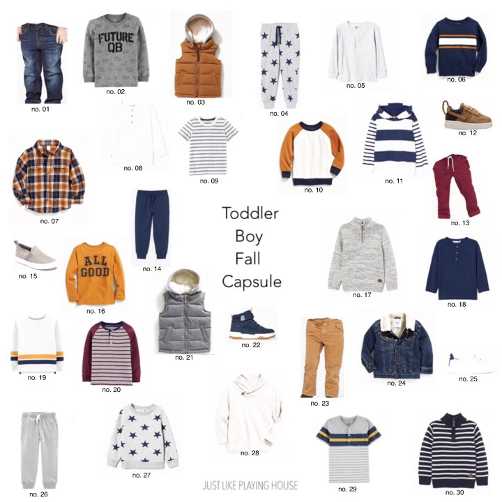 Toddler Boy Fall Capsule Wardrobe 2019