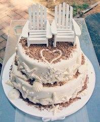Pastel de boda vintage