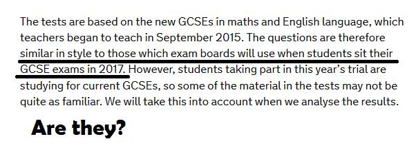 similar to new GCSE