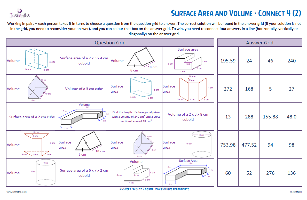 worksheet Surface Area Volume Worksheet surface area and volume revision justmaths below you can find the slides also worksheets may or not be useful 32 volume
