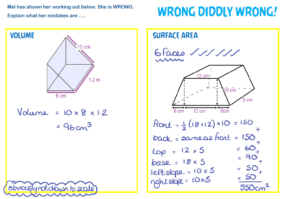 worksheet Surface Area Of A Prism Worksheet surface area and volume revision justmaths revision