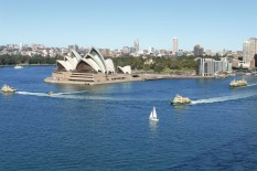 Sydney opera house and ferries