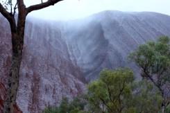 Uluru rainy day