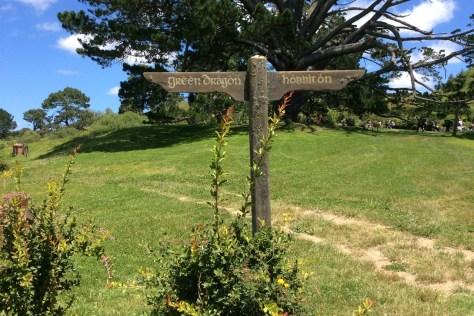 Signpost in Hobbiton