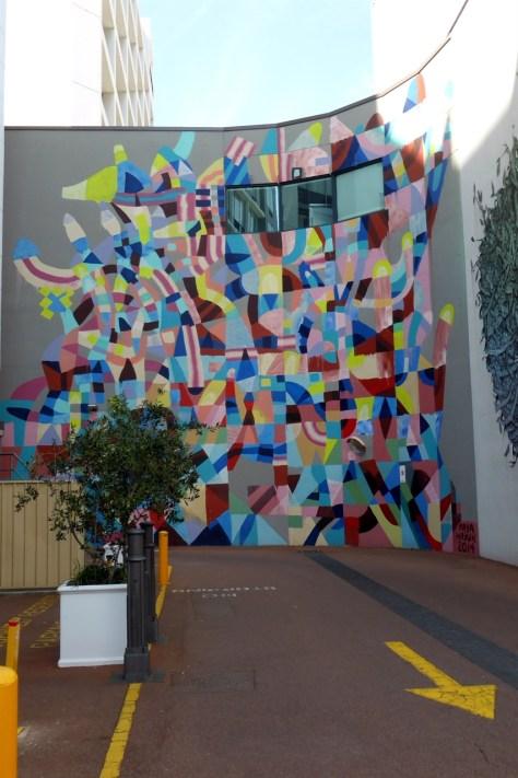 Eye catching colours street art