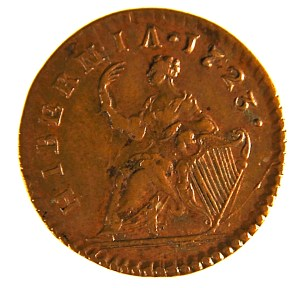 Hibernia, Copper Farthing, 1723. Reverse.
