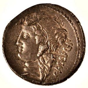 Roman Republic, minter C. Cassius, silver denarius, 126 BCE. Reverse.