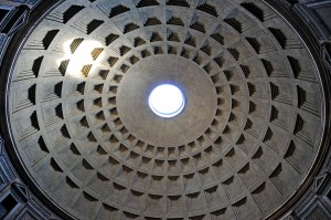 Roof of the Pantheon. Rome, Italy.