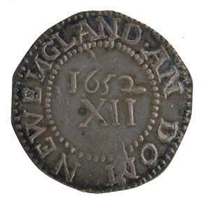 USA. Silver shilling, reverse. Boston (Mass.), 1652.