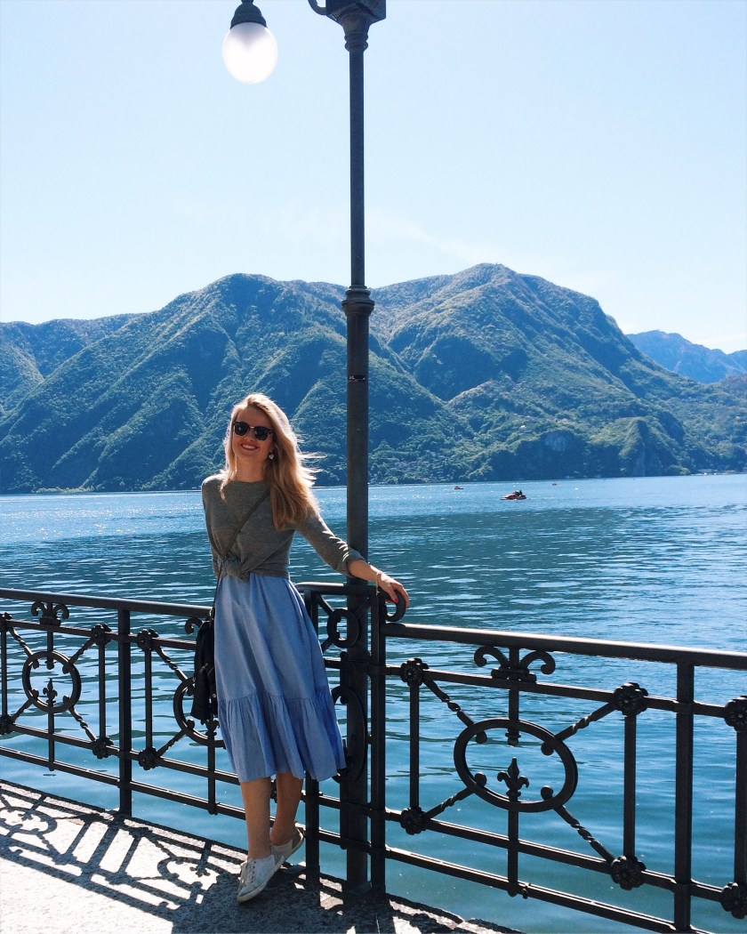 Happy in Lugano, Switzerland