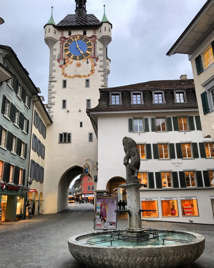Baden old town tower