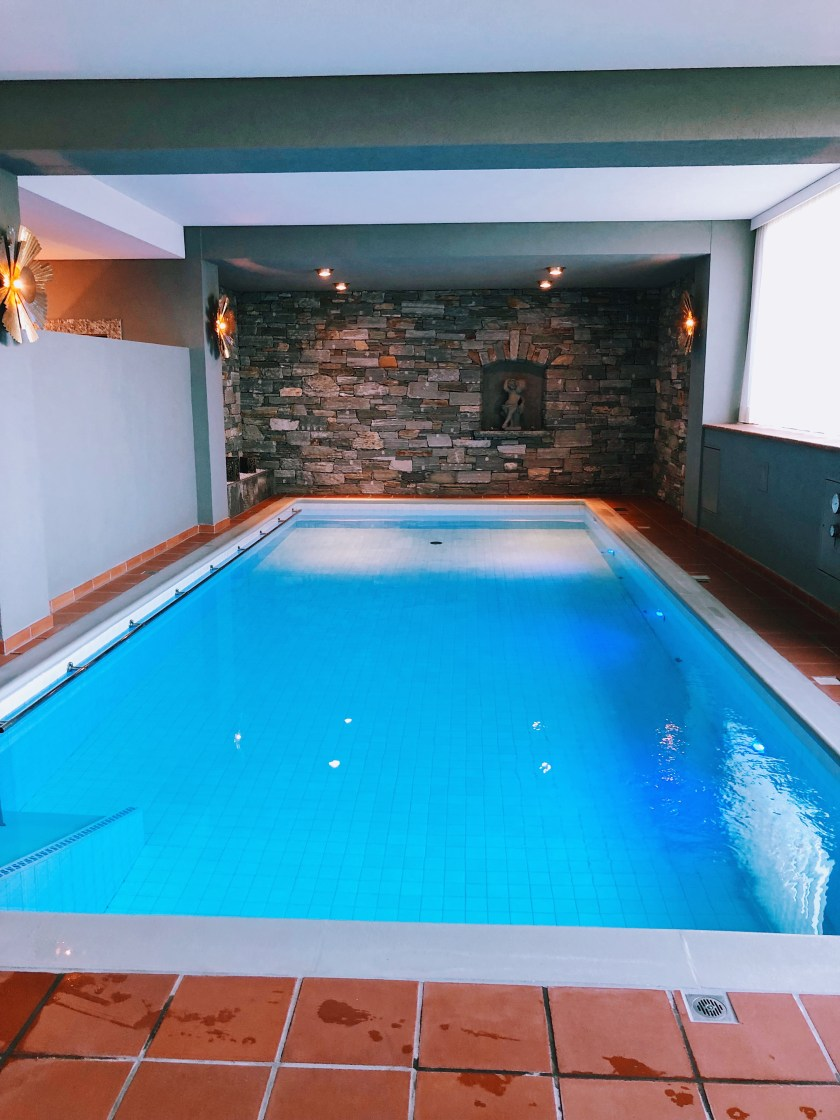 Indoor pool at Villa Orselina hotel in Locarno Switzerland