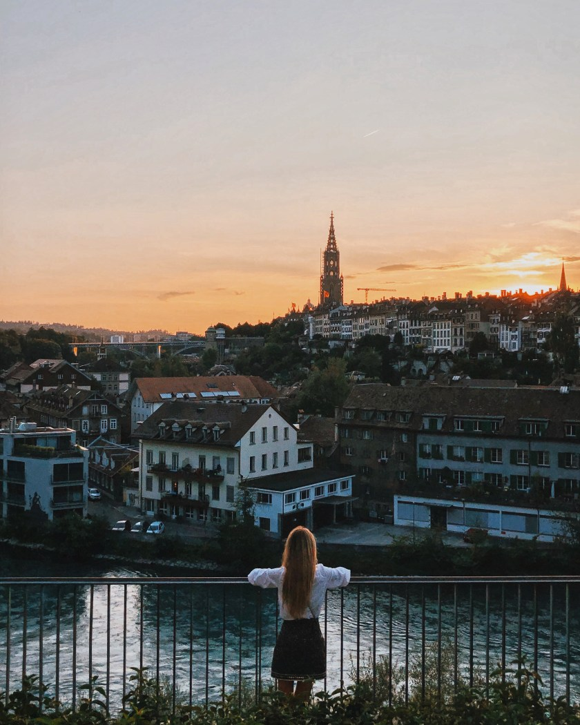 Watching the sunset in Bern, Switzerland