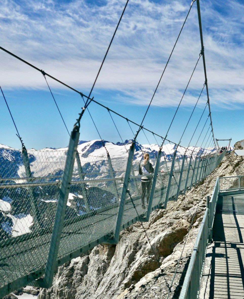 Titlis Cliff Walk in the summer