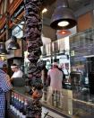 Delicious appetizers / tapas at Mercado de San Miguel in Madrid, Spain.