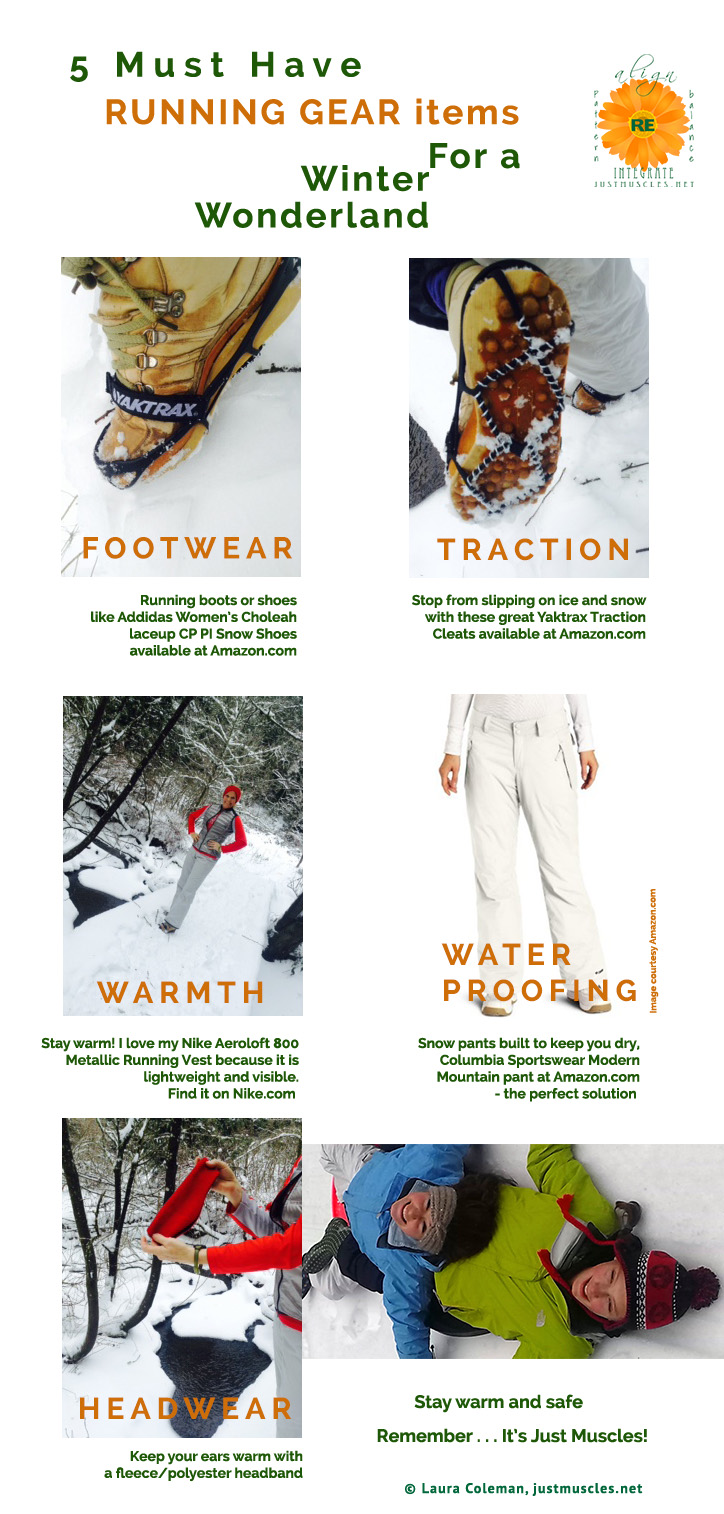 Image of 5 winter running gear items by Laura Coleman, Just Muscles