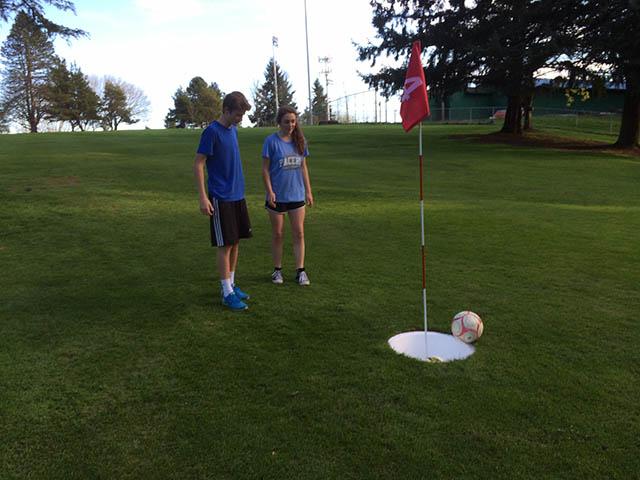 Image of Foot golf missed putt