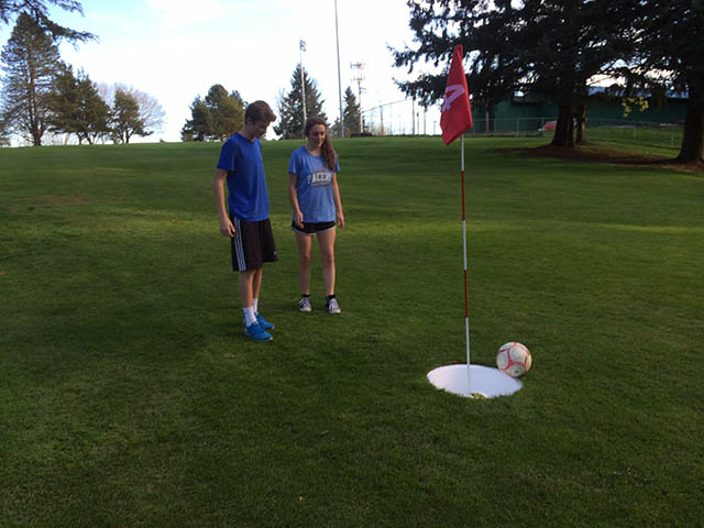 Image of Foot golf missed putt
