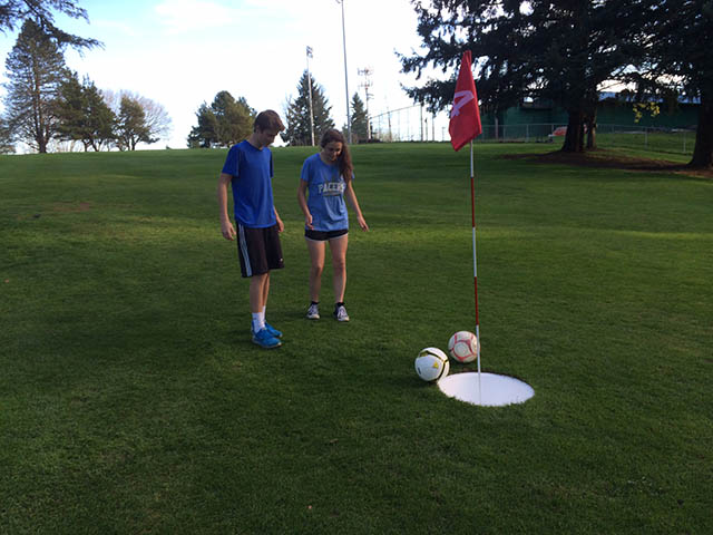 Image of foot golf putting