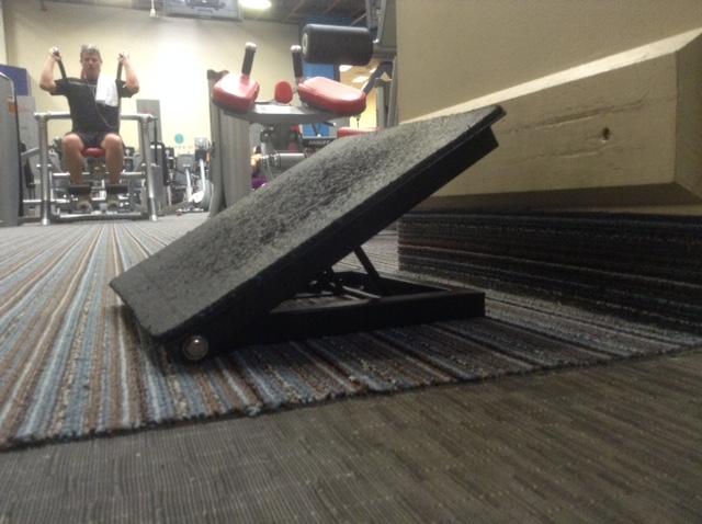 Image of a calf stretch board