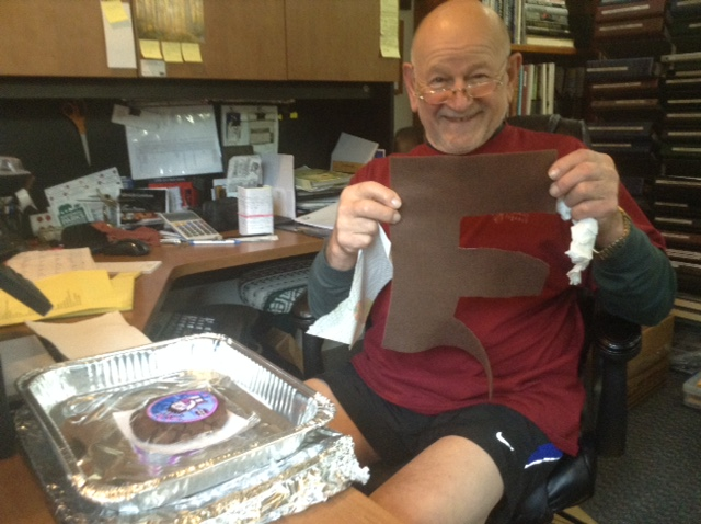 Image of Laura Coleman's client Vic holding a brown e