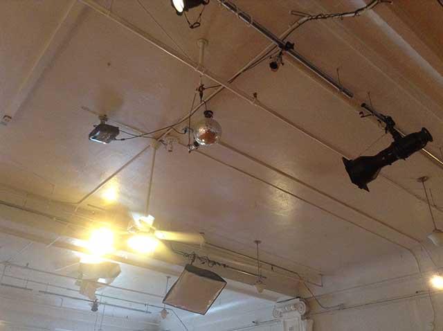 Image of studio lights for a workout hall