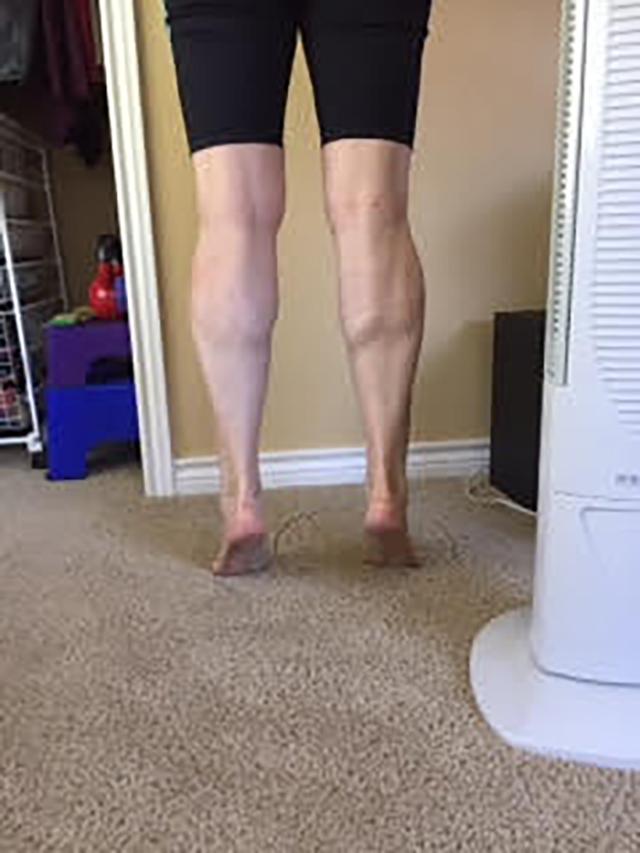Image of person doing calf raises