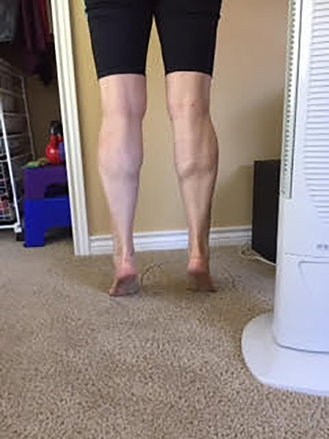 Image of person doing calf raises