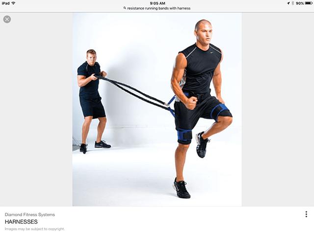 image of hip flexor harness demo